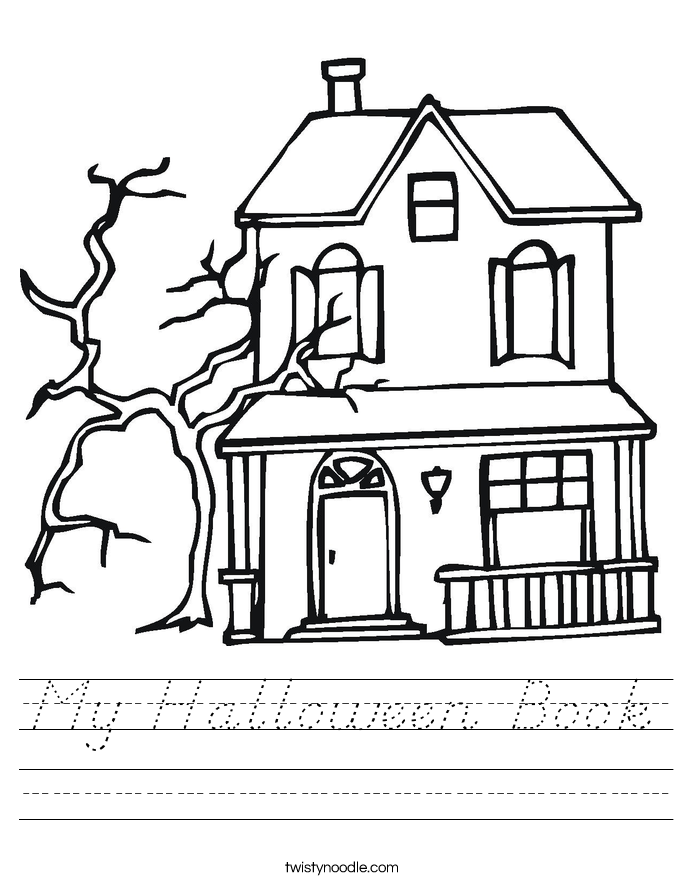 My Halloween Book Worksheet