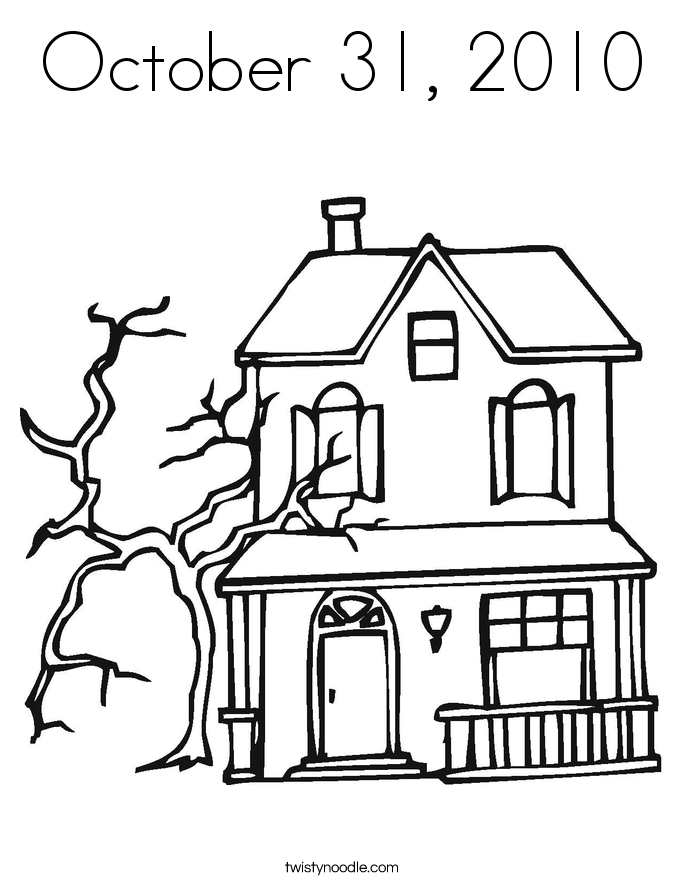 october 31  2010 coloring page