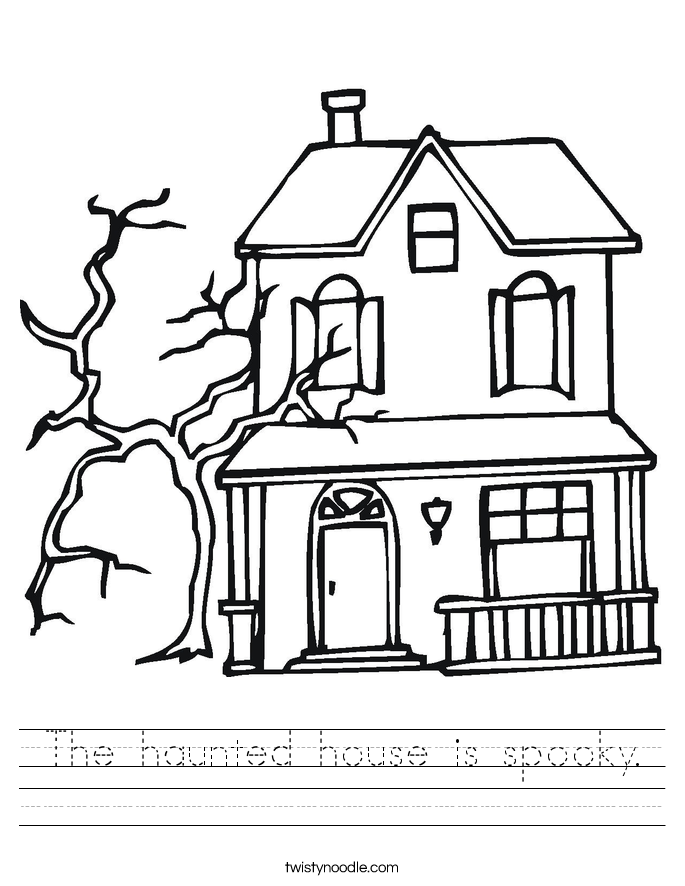 Haunted House Outline Printable Images