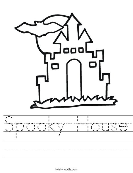 Halloween House Worksheet