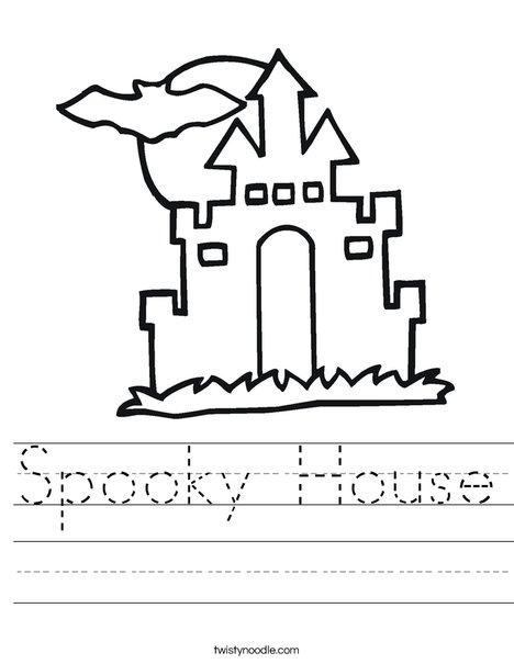 Halloween House Worksheet