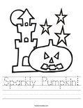 Sparkly Pumpkin! Worksheet