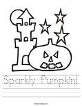 Sparkly Pumpkin! Worksheet