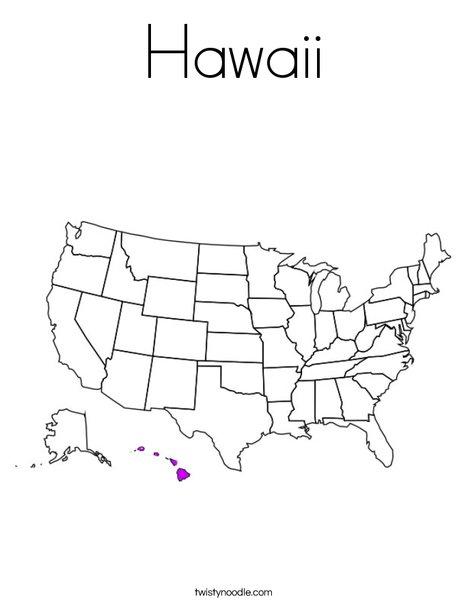 Hawaii Coloring Page