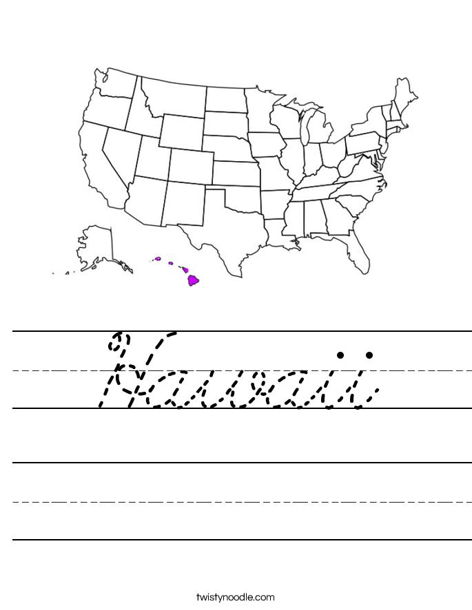 Hawaii Worksheet