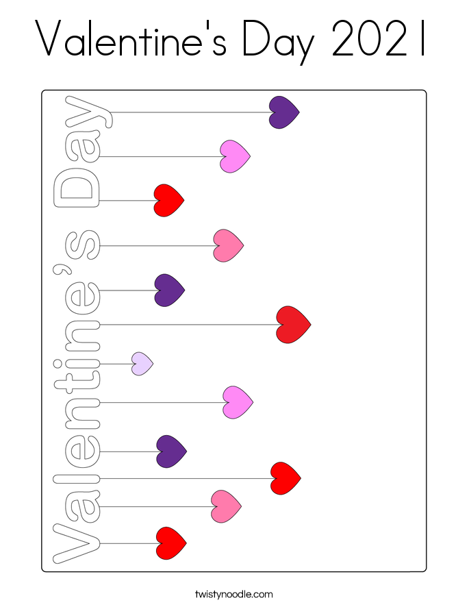 Valentine's Day 2021 Coloring Page