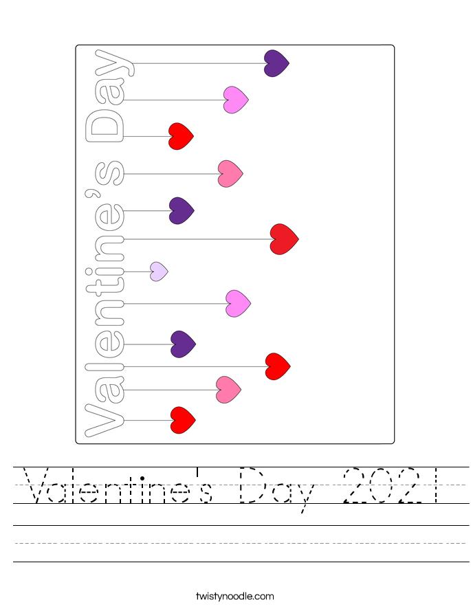 Valentine's Day 2021 Worksheet