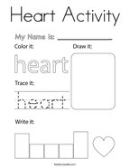 Heart Activity Coloring Page