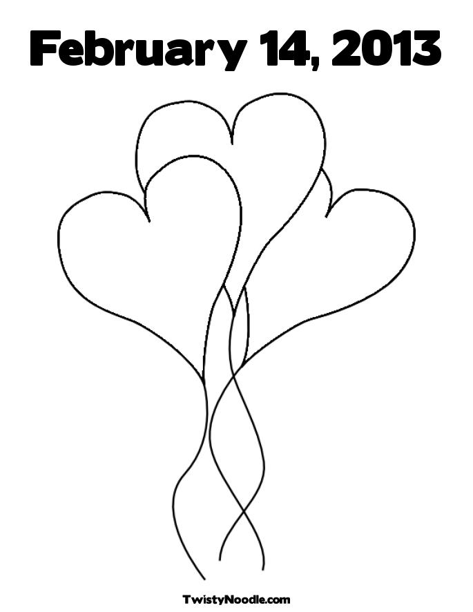 heart balloon coloring pages - photo #22