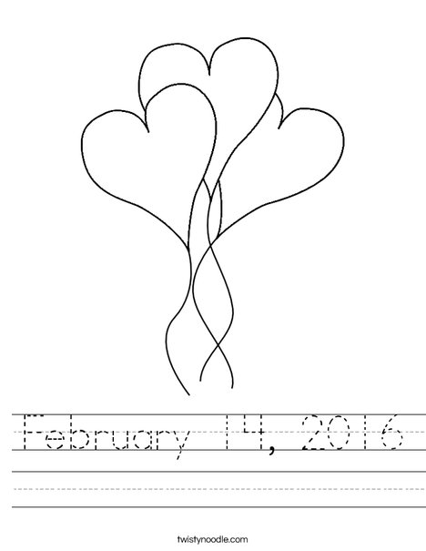 Heart Balloons Worksheet