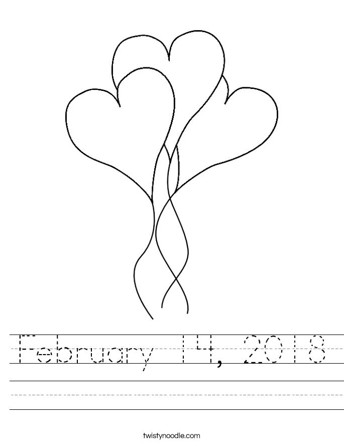 February 14, 2018 Worksheet