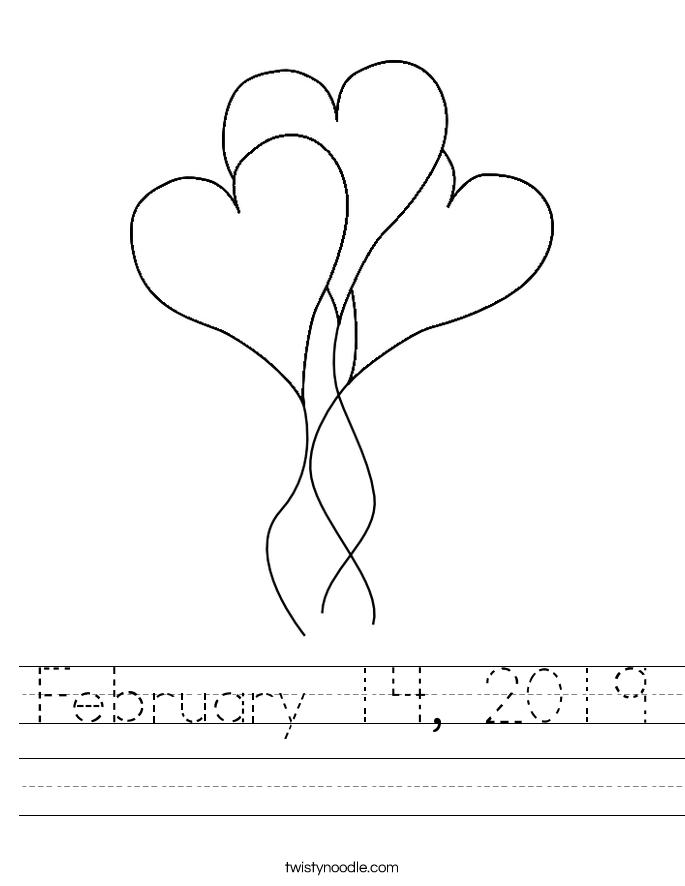 February 14, 2019 Worksheet