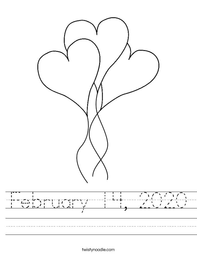 February 14, 2020 Worksheet