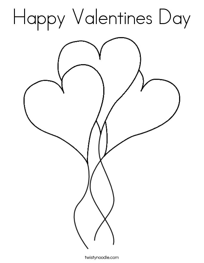 This is a photo of Peaceful Happy Valentines Day Heart Coloring Page