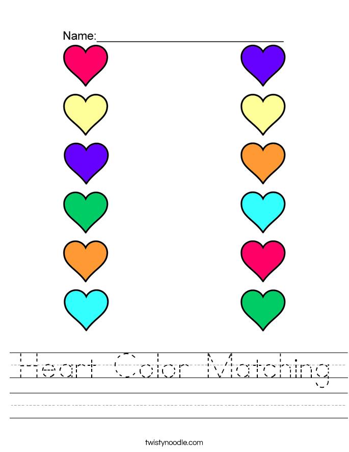 Relie d'-apres la bonne couleur | Les couleurs en tps et ps ...