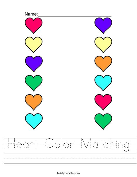 Worksheets and Matching Game: Colors (preschool/primary) | abcteach