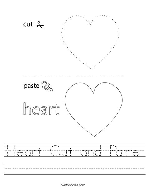 Heart Cut and Paste Worksheet
