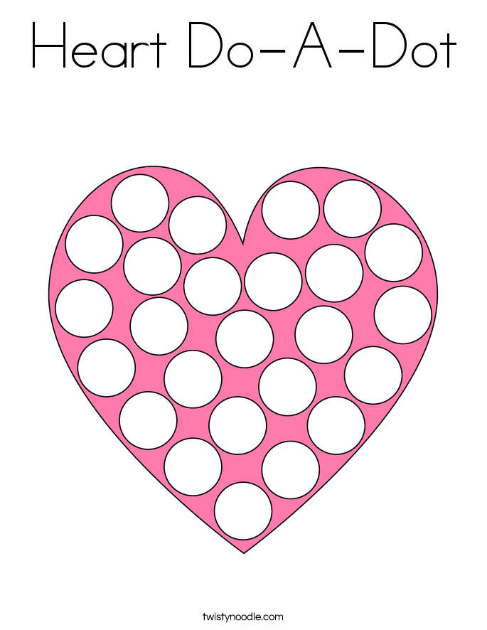 Heart Do-A-Dot Coloring Page