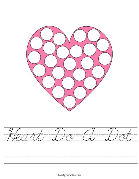 Heart Do-A-Dot Worksheet