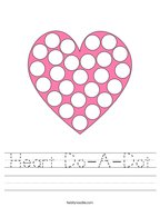 Heart Do-A-Dot Handwriting Sheet