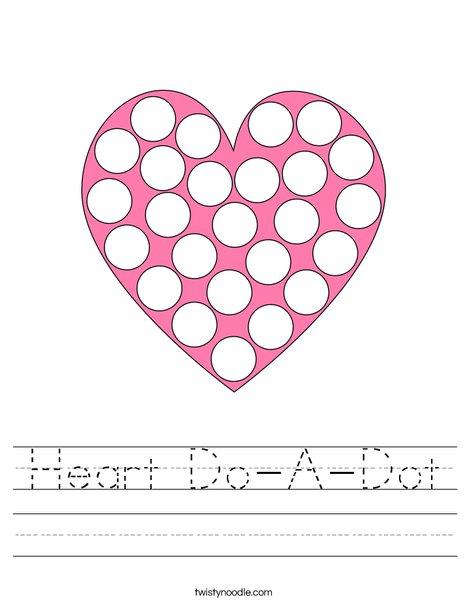 Heart Do-A-Dot Worksheet