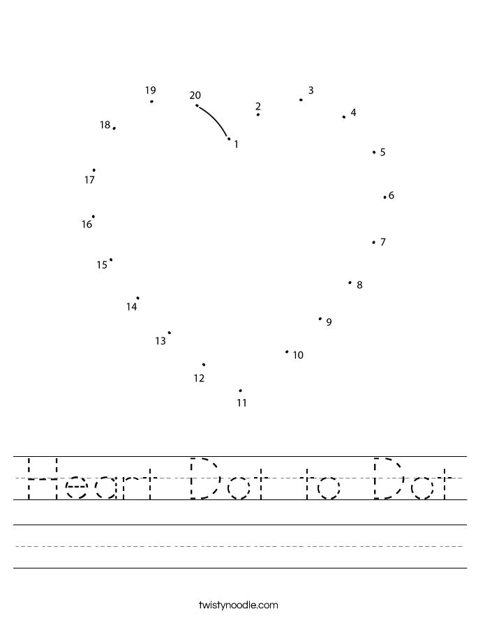 Heart Dot to Dot Worksheet