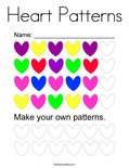 Heart Patterns Coloring Page