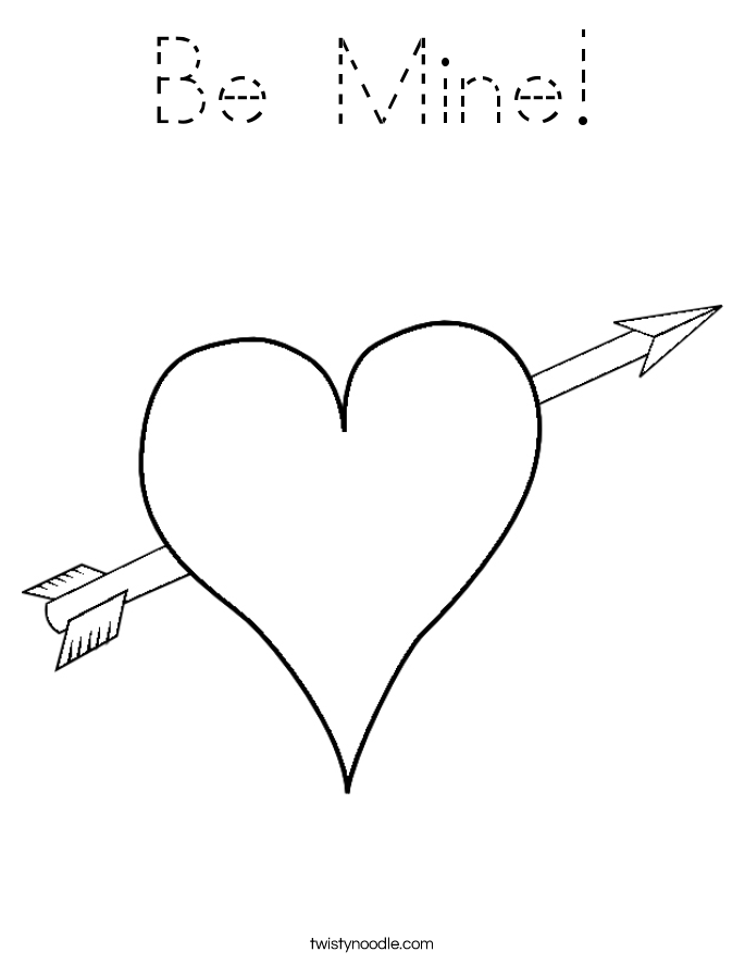 Be Mine! Coloring Page