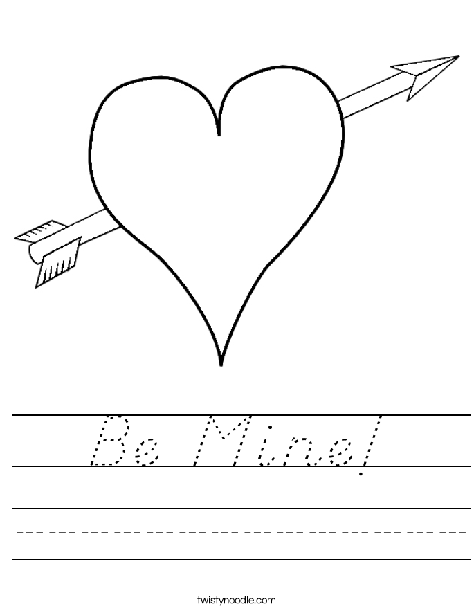 Be Mine! Worksheet