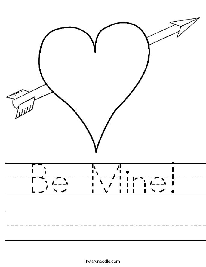 Be Mine! Worksheet