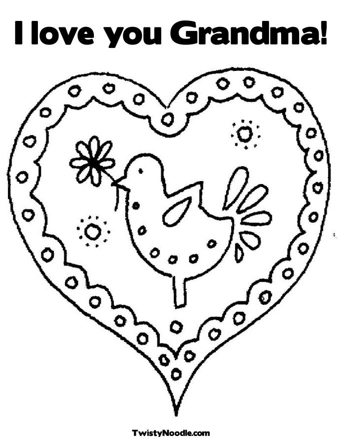 I love grandma coloring pages
