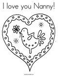 I love you Nanny!Coloring Page