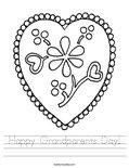 Happy Grandparents Day! Worksheet