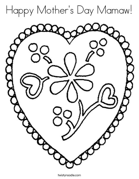 - Happy Mother's Day Mamaw Coloring Page - Twisty Noodle