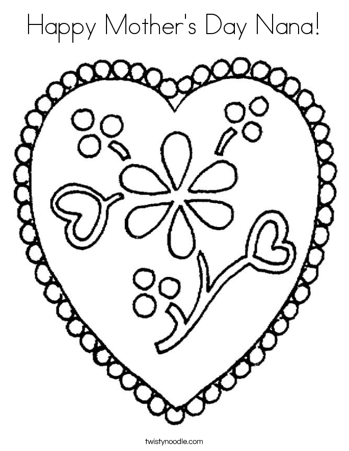 Happy Mother's Day Nana! Coloring Page