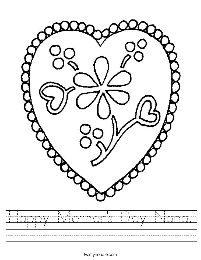 Happy Mother's Day Nana! Worksheet
