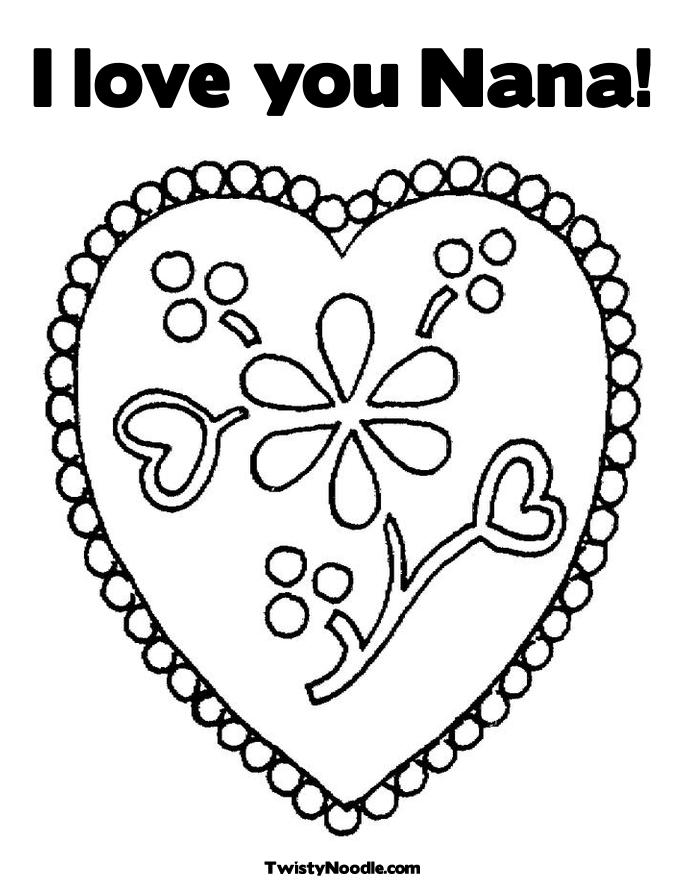 i love you nana coloring pages - photo #1