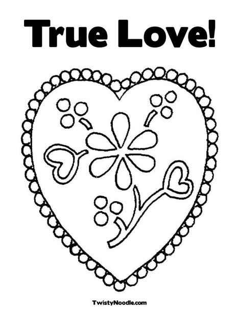 coloring pages of flowers and hearts. Heart with Flowers Coloring