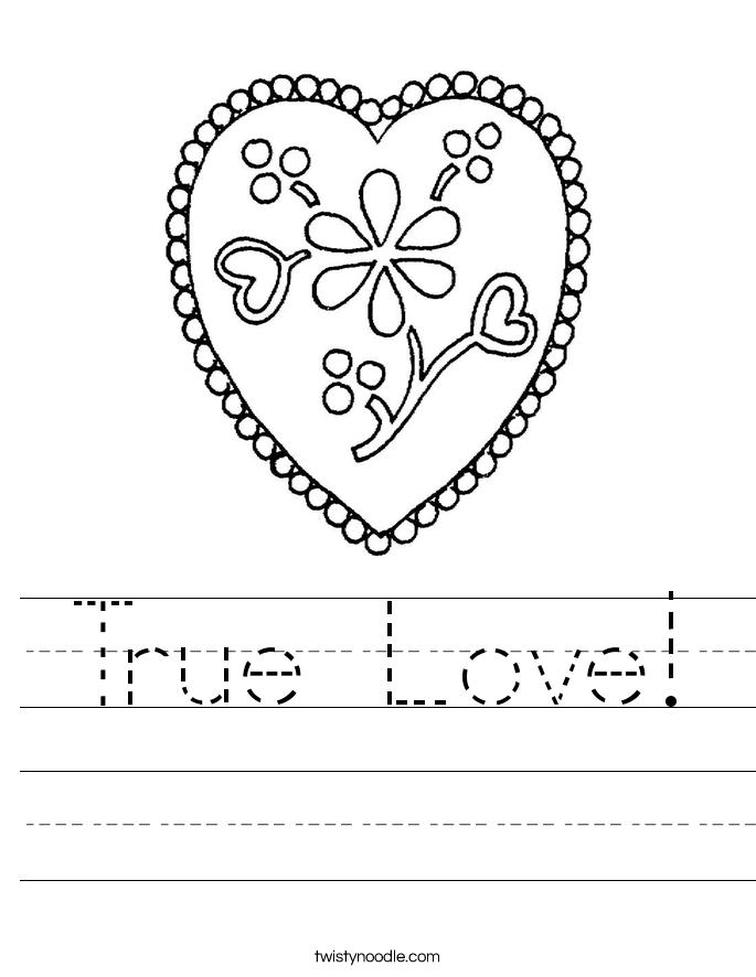 True Love! Worksheet