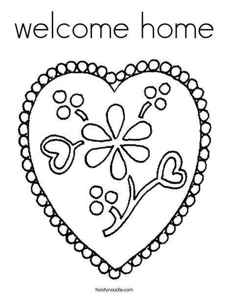 Welcome home coloring page twisty noodle for Welcome home coloring pages