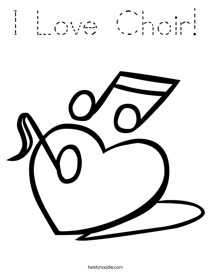 I Love Choir! Coloring Page
