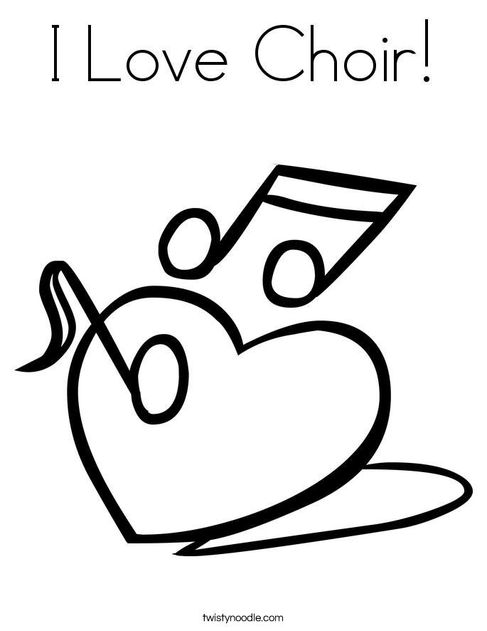 i love choir coloring page