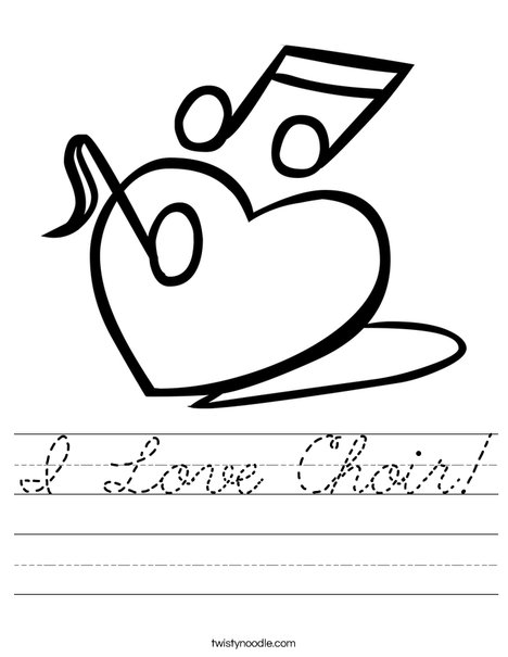 Heart with Notes Worksheet