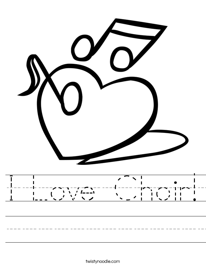 I Love Choir! Worksheet