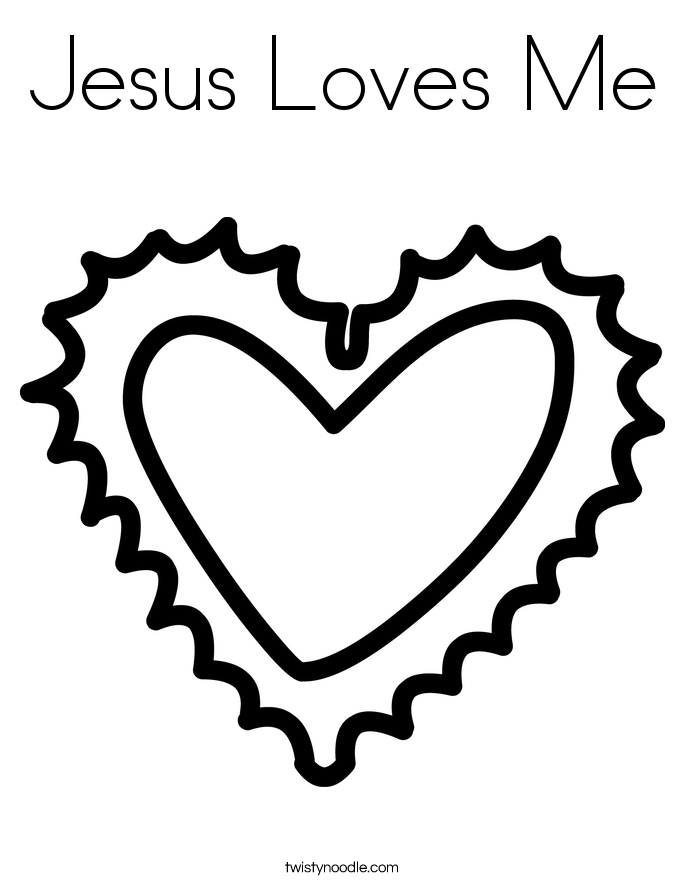heart and jesus coloring pages - photo#25