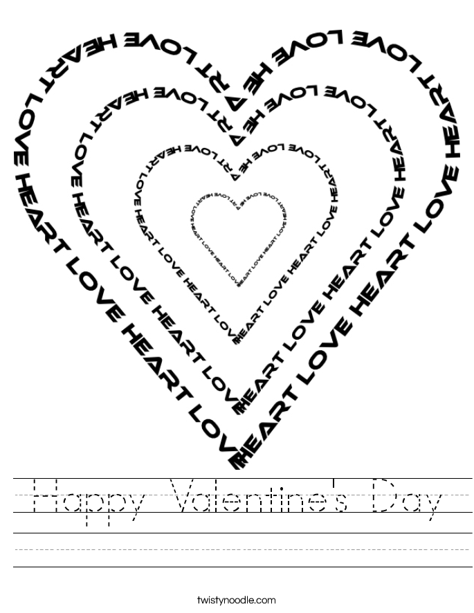 Happy Valentine's Day Worksheet