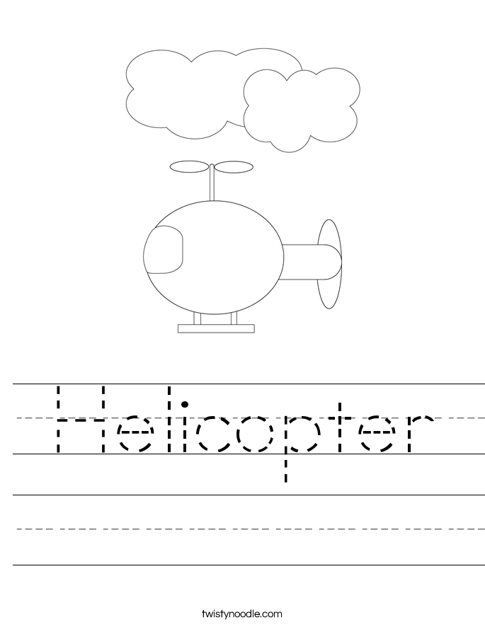 Helicopter Worksheet