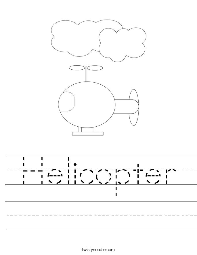 Helicopter Worksheet
