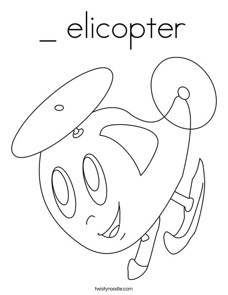 Happy Helicopter Coloring Page