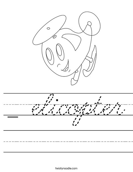 Happy Helicopter Worksheet